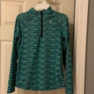 Justice 1/4 zip jacket with thumb holes. Size 10
